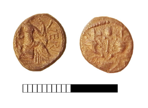 SUR-EED94D: Iron Age coin: Silver unit of Verica
