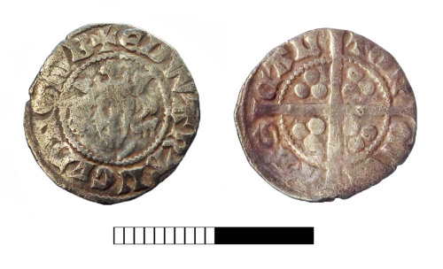SUR-E40866: Medieval coin: Penny of Edward I