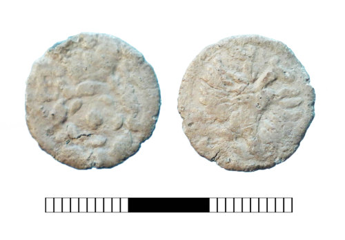 A resized image of Post medieval: Lead alloy token of Elizabeth I