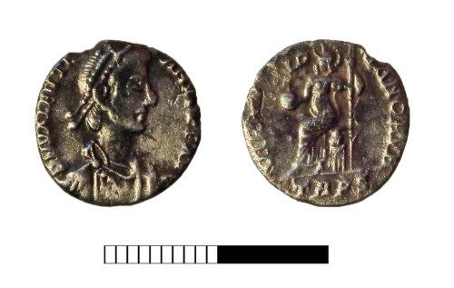 SUR-CD2B3B: Roman coin: Siliqua of Valentinian I