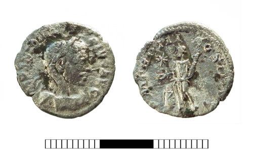 SUR-CD4DDD: Roman coin: Denarius of Elagabalus