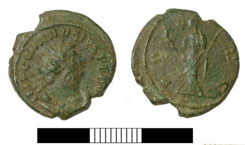 SUR-C4F953: Roman coin: Radiate of Carausius