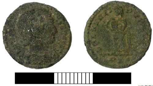 SUR-8D8A34: Roman coin: Nummus of Fausta
