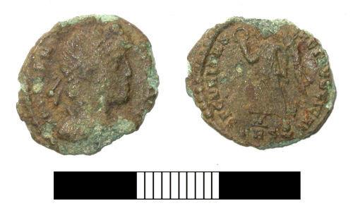 SUR-27BF25: Roman coin: Nummus of Valens