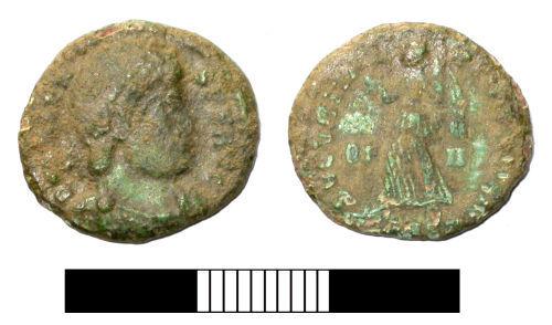 SUR-27D3E6: Roman coin: Nummus of Valens