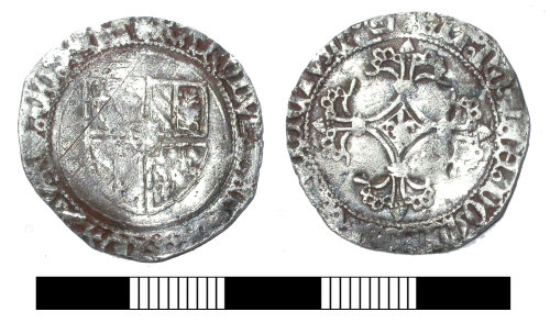 SUR-9CB923: Medieval coin: Double patard of Charles the Bold