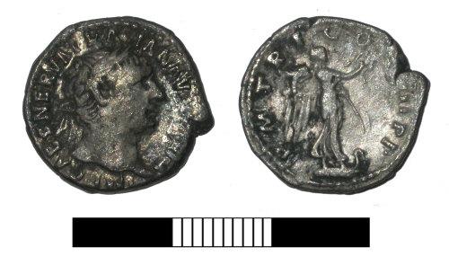 SUR-925501: Roman coin: Denarius of Trajan