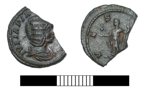 SUR-8EFCB7: Roman coin: Denarius of Julia Domna under Caracalla