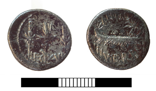 SUR-9217B5: Roman coin: Denarius of Mark Anthony
