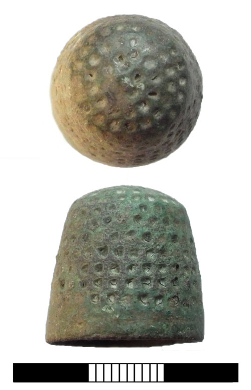 A resized image of Post medieval: Thimble