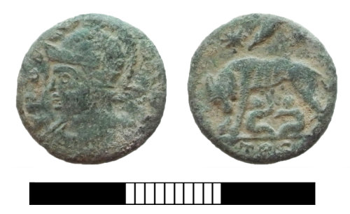 SUR-5DEFF6: Roman coin: Nummus of the House of Constantine