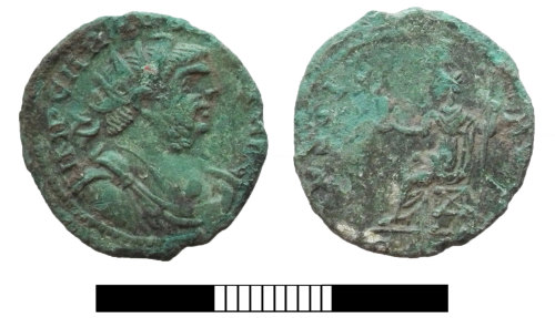 SUR-5E347C: Roman coin: Radiate of Carausius