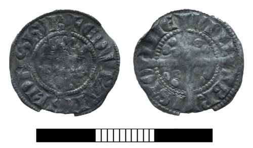 SUR-7224B5: Medieval coin: Penny of Edward I
