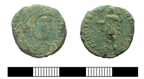 SUR-0463ED: Roman coin: Nummus of Magnentius
