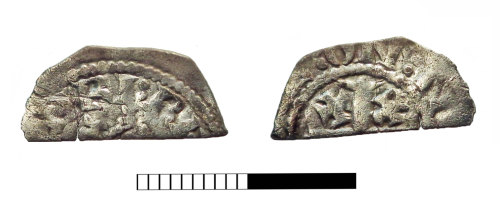 SUR-E80C01: Medieval coin: Cut Halfpenny of Henry II
