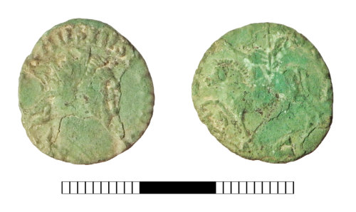SUR-35DE01: Roman coin: Radiate of Carausius