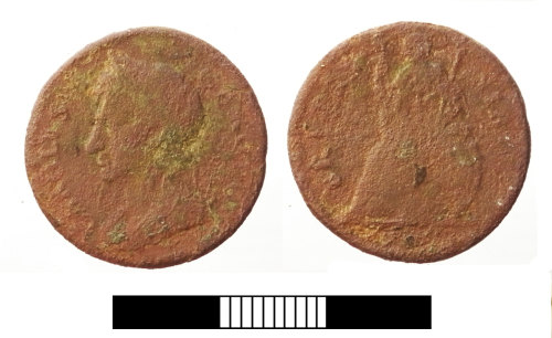 SUR-E35FA3: Post medieval coin: Farthing of Charles II