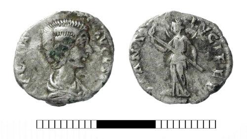 SUR-FFD306: Roman coin: Denarius of Julia Domna
