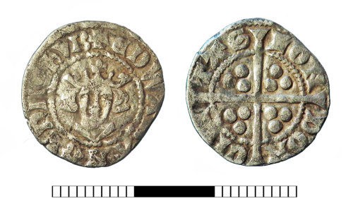 SUR-8CFB5E: Medieval coin: Penny of Edward I-II