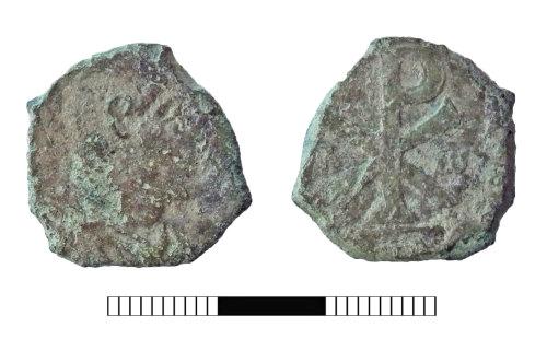 SUR-78F2DE: Roman coin: Nummus of Magnentius or Decentius