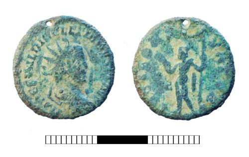 SUR-0AD1D0: Roman coin: Radiate of Diocletian