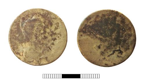 SUR-261396: Post medieval coin: Halfcrown of Charles II