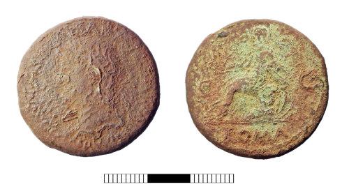 SUR-78562A: Roman coin: Sestertius of Nero