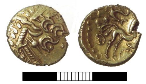 SUR-218923: Iron Age coin: Hoard of staters, Stater 1.