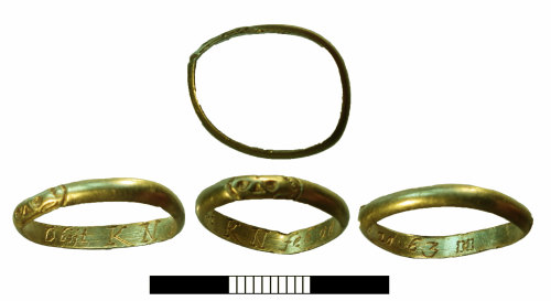 SUR-93779F: Post medieval: Gold finger ring