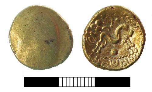 SUR-A994A7: Iron Age coin: Gallo-Belgic stater