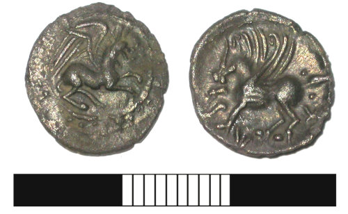 SUR-7E7967: Iron Age coin: Silver unit of Tasciovanus