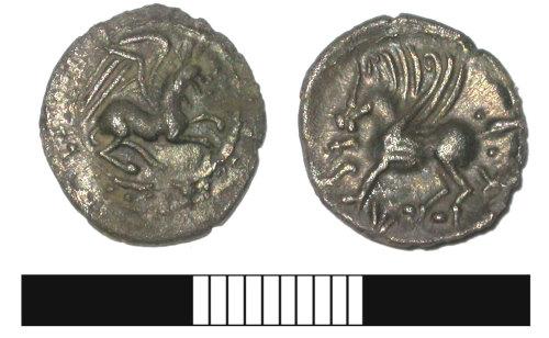 SUR-7E7967: Iron Age coin: Silver unit of Tasciovanus