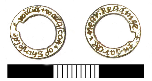 SUR-D32343: Post medieval: Hawking ring or vervel