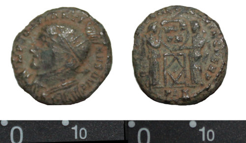 DEV-B7F0D0: Roman nummus of Constantine I