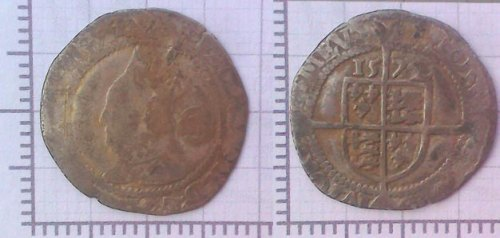 DEV-117F22: Post Medieval coin: Threepence of Elizabeth I