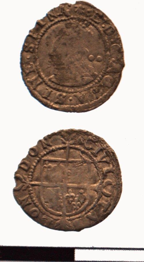 DEV-4C9B5C: Post Medieval coin: halfgroat of Elizabeth I