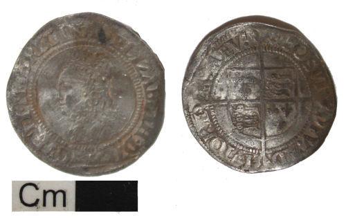 DEV-C3CE24: Postmedieval coin: groat of Elizabeth I