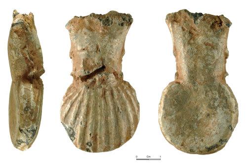 NMGW-600111: Medieval lead pilgrim's ampulla