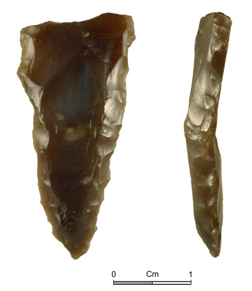 NMGW-5D4879: Prehistoric flint knife or awl