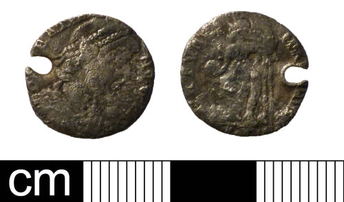 NMS-3C570A: Roman coin: Siliqua of Gratian