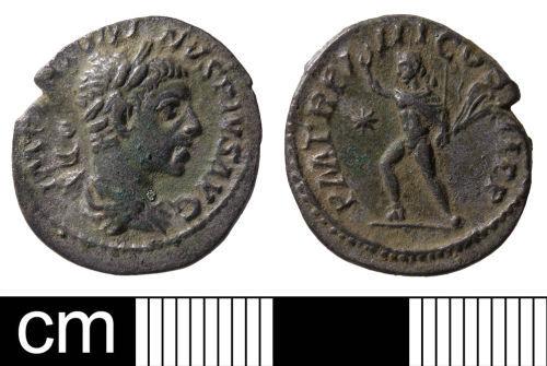 A resized image of Roman coin: denarius of Elagabalus