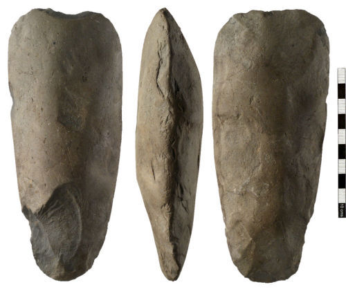 NMS-B7AF84: Neolithic stone axehead.