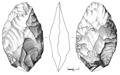 NMS-ECAA52: Palaeolithic handaxe
