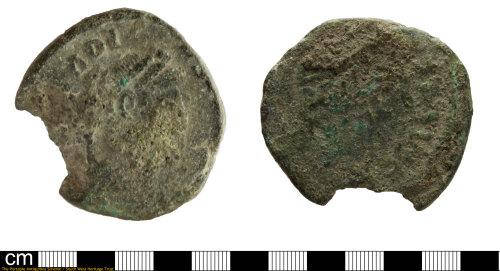 SOM-64D791: Roman coin: nummus of Arcadius