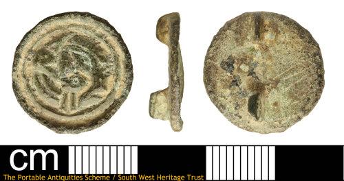 SOM-6E38BD: Anglo Saxon Button Brooch