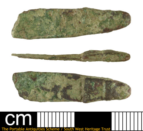 SOM-D4FEB9: Late Early Medieval strap end