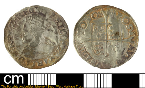 SOM-F2A20D: Post-medieval coin: groat of Philip and Mary