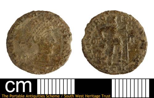 DEV-FBE8B6: Roman coin:  Nummus of Valentinian I