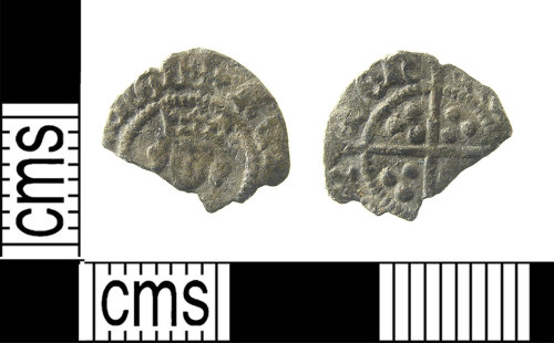 LON-27F6AE: Medieval silver long cross half penny possibly of Henry VI (1422-1461), Possibly North type 1453.