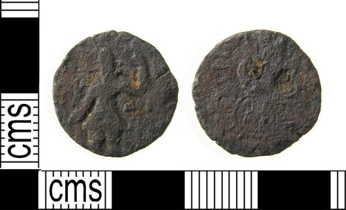 LON-ECF6A4: Copper alloy Kushan quarter unit coin from Bactria in the Persian Empire, AD.100-160.